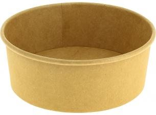 Round brown container 1000 ml