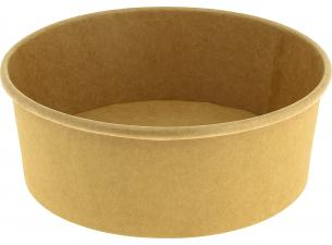 Round brown container 1300 ml