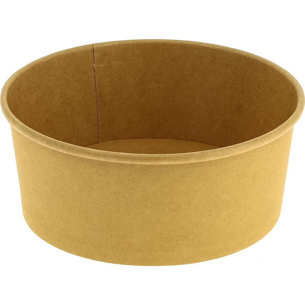 Saladier rond carton brun 750 ml