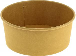 Round brown container 750 ml