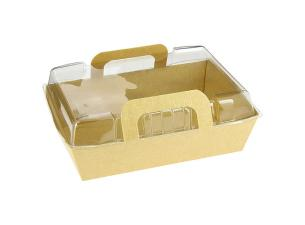 Brown Salad Carton 170X112X50 + Lid (200+200)