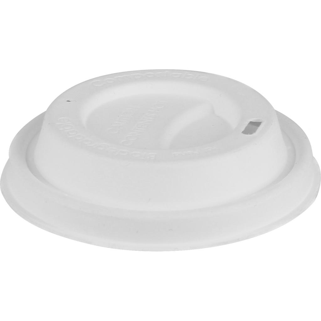 Dome lid in pulp for hot drink