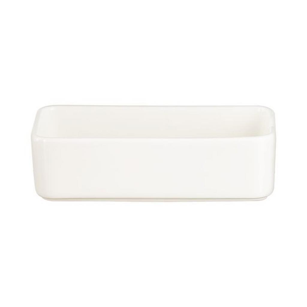 Ravier blanc en porcelaire Arcoroc - 28cl L150Xl75XH42mm  X24(4X6)