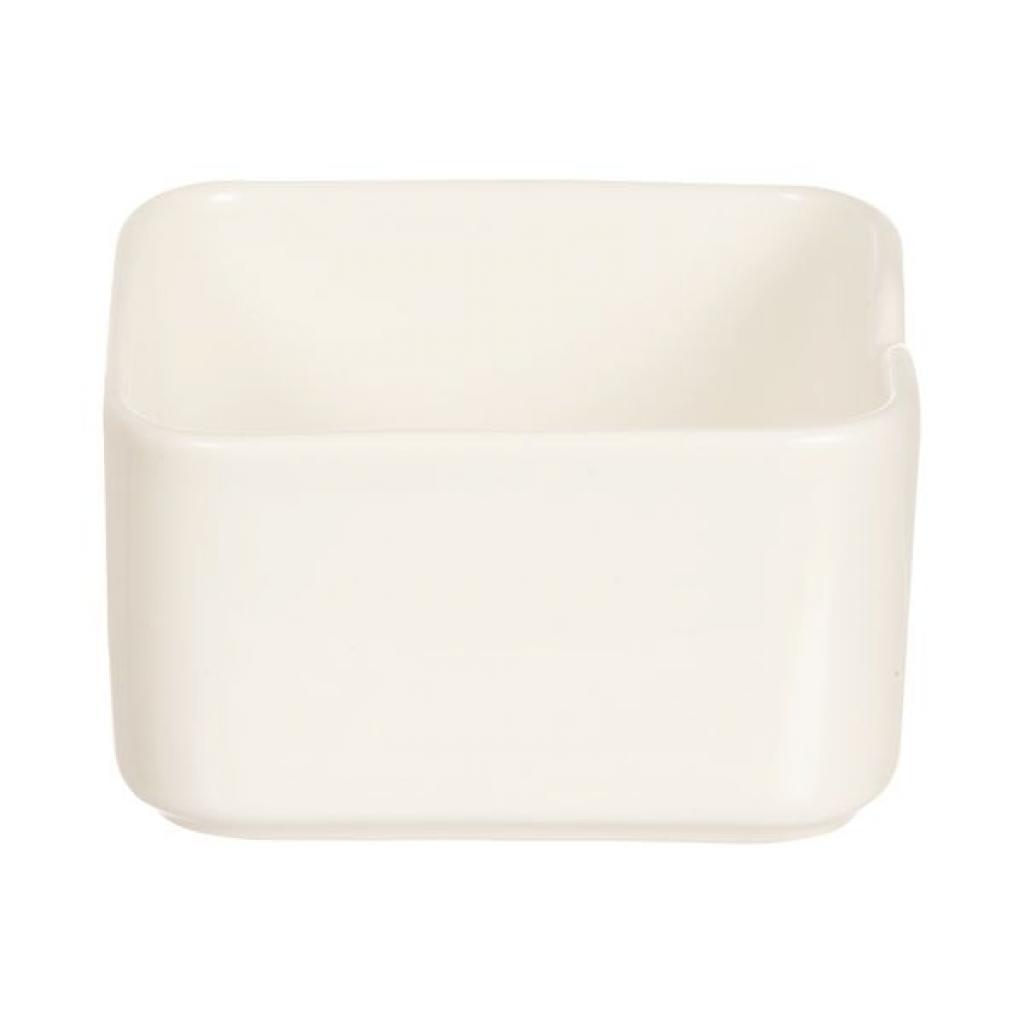 Ravier blanc en porcelaire Arcoroc - 13CL  L75Xl75XH41MM  X24(4X6)