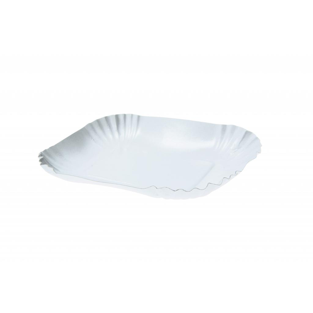 Oblong shallow paper bowl 13x18x3 cm