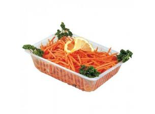 Transparent Caterer's Container in PS Plastic 1000ML (X250)