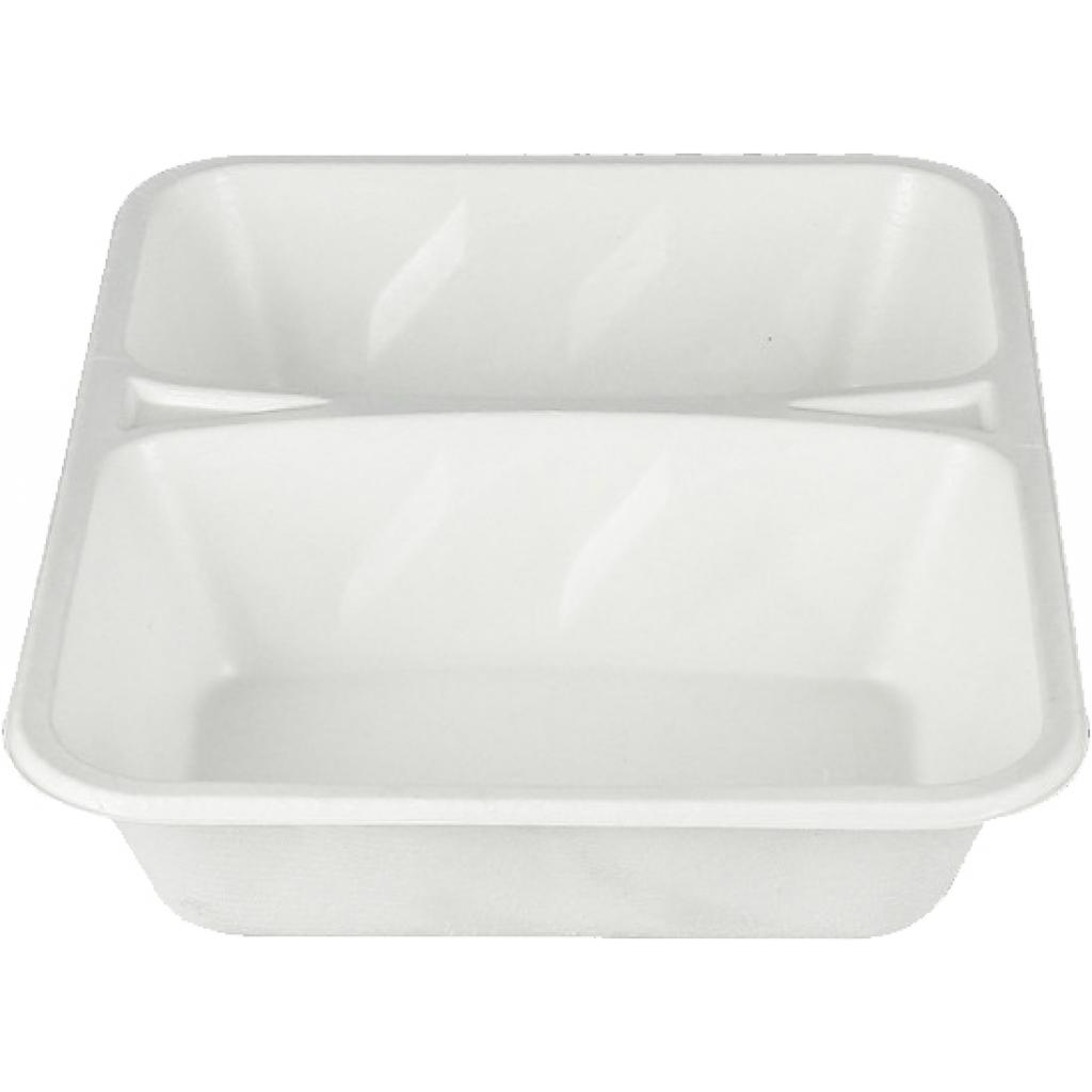 Biodegradable Pulp Container 2 Compartments