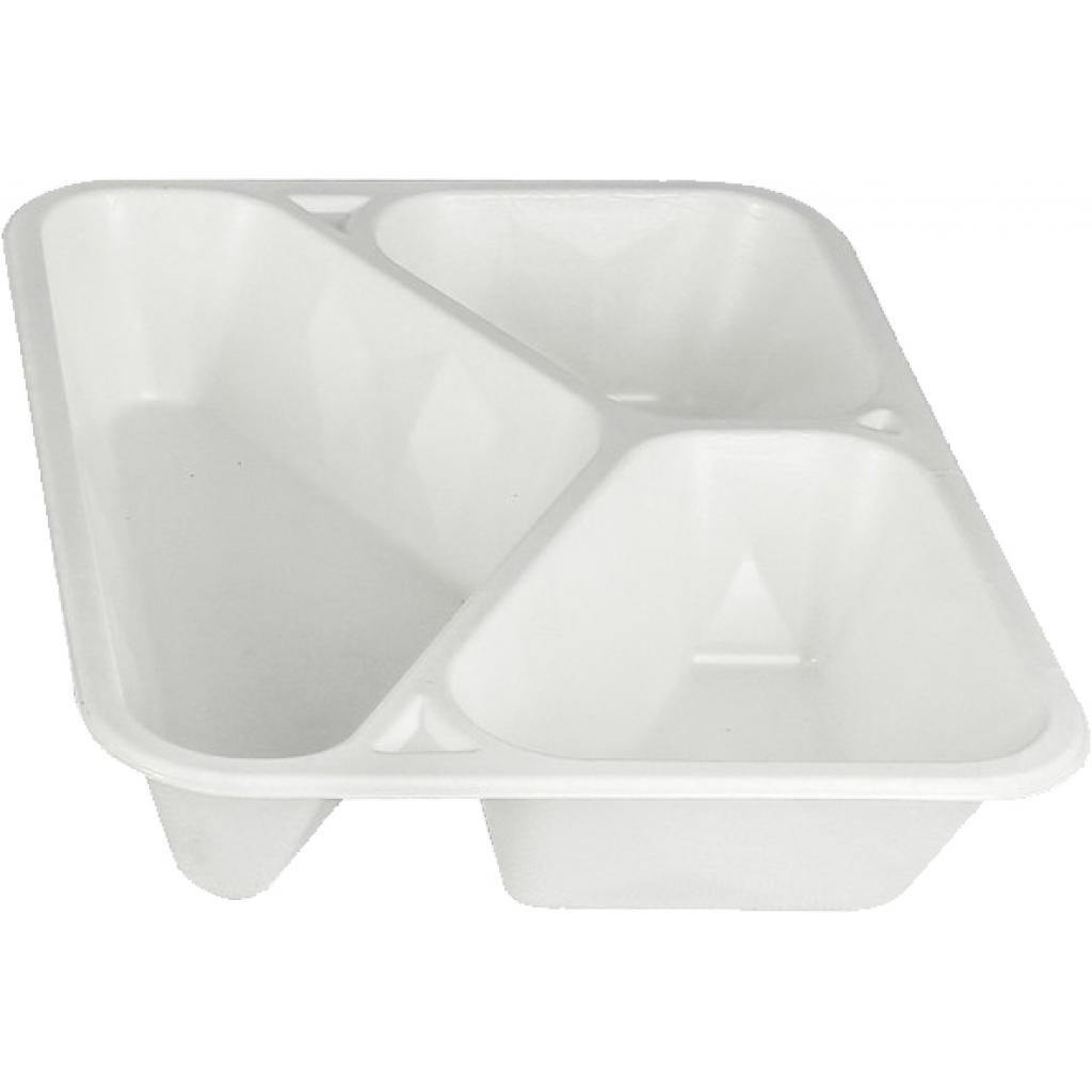 Biodegradable Pulp Container 3 Compartments
