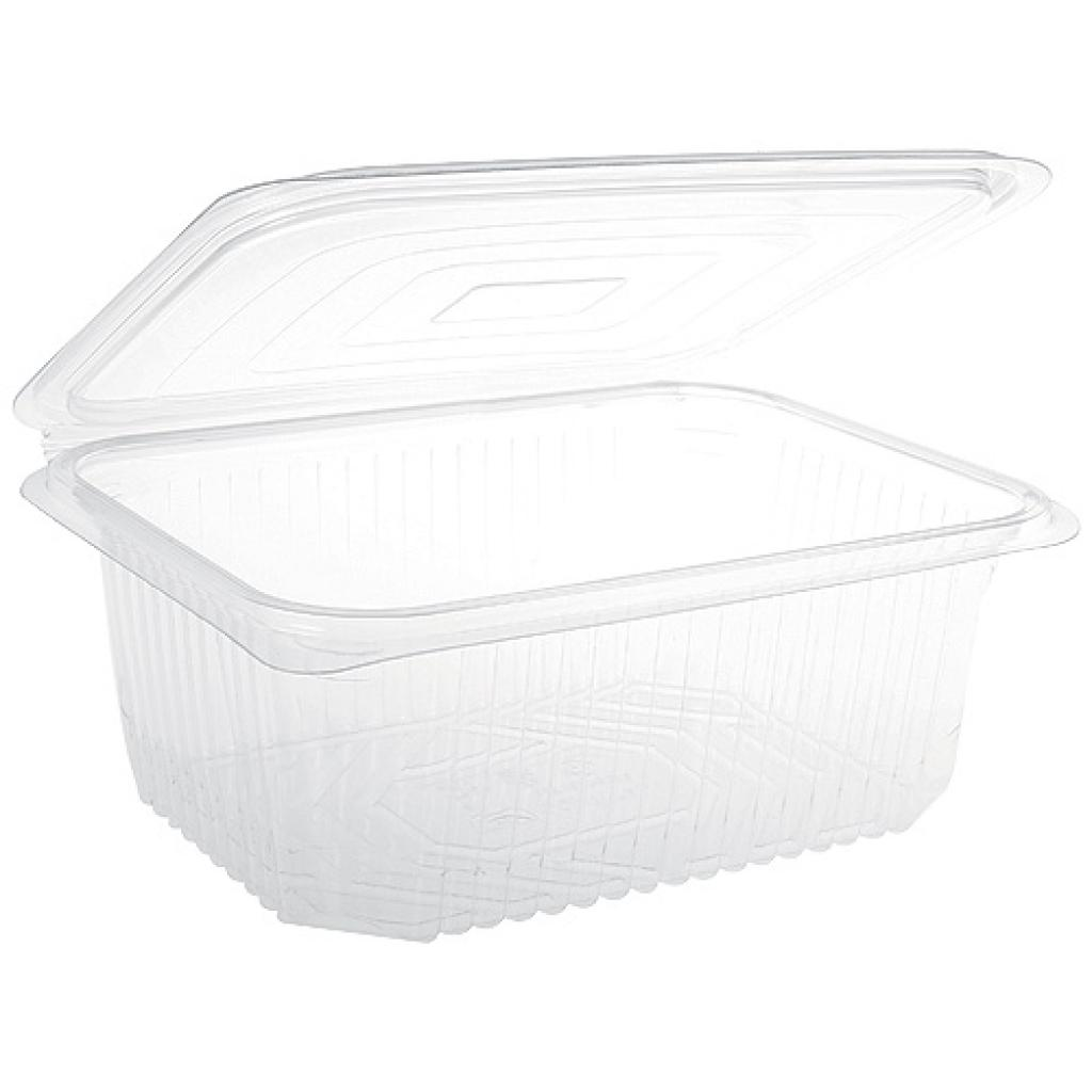 Hinged Transparent Salad Container in PLA 375CC  X300(6X50)