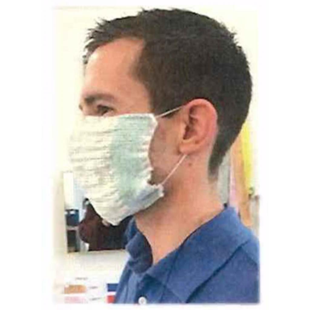 Masque de protection tissu lavable 24x12cm
