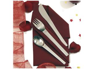 120mm stainless steel cutlery set, napkin included