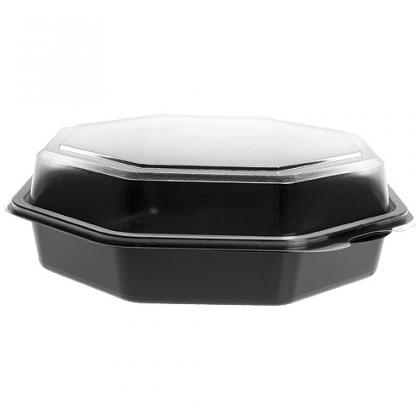 Black PVC Octaview salad bowl, Ø 19cm