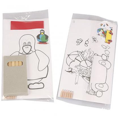 Colour-in children's cutlery sleeve