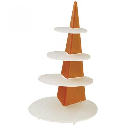 62cm orange/white tiered display platter for Obélisque verrines