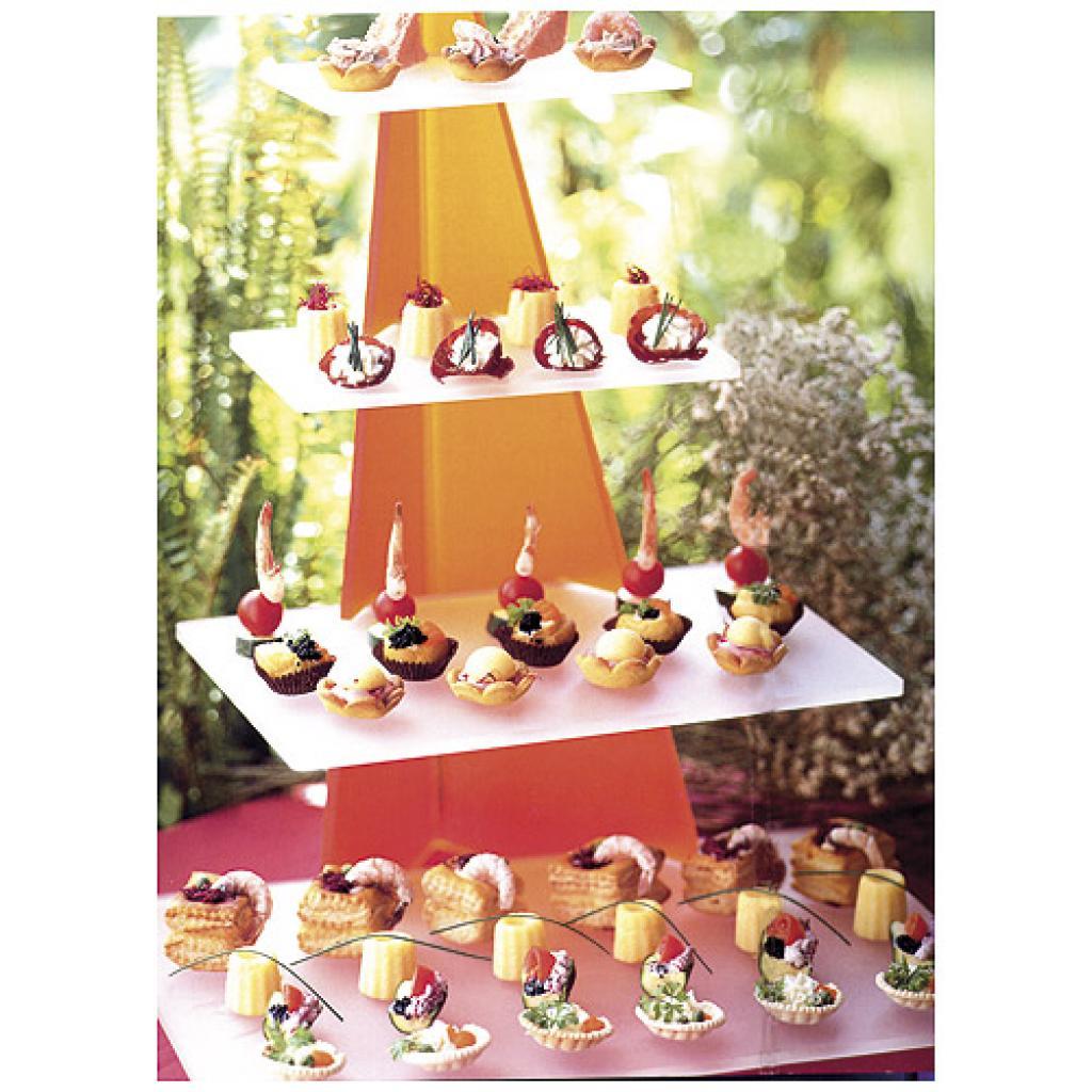 Orange/white tiered display platters for Arrow verrines 2