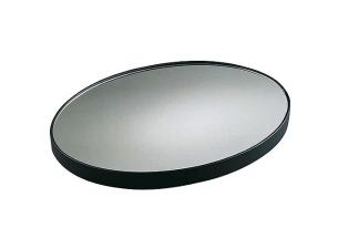 Oval plastic mirror display platter