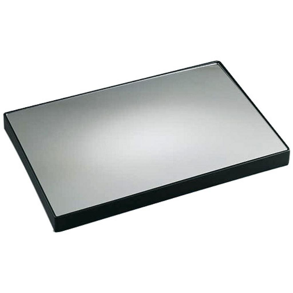 Plastic rectangular mirror display platter