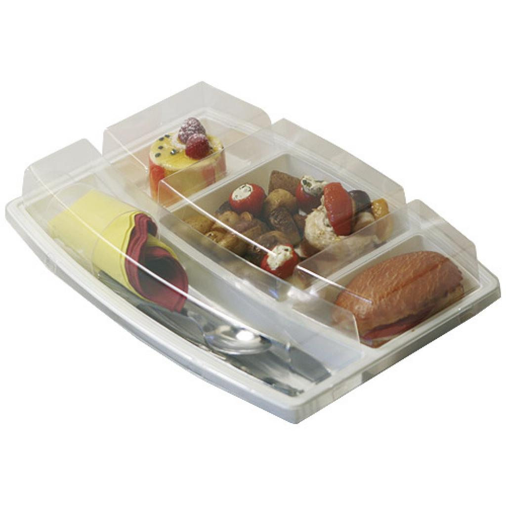 Beige PS 5-compartment dinner tray 2
