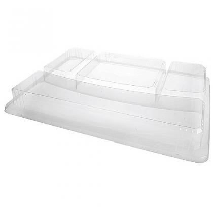 Lid for 5-compartment tray