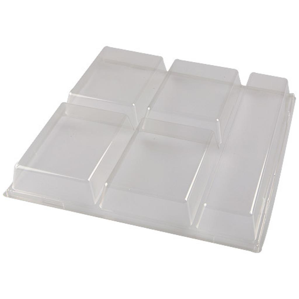 Lid for luxury 6-compartment tray