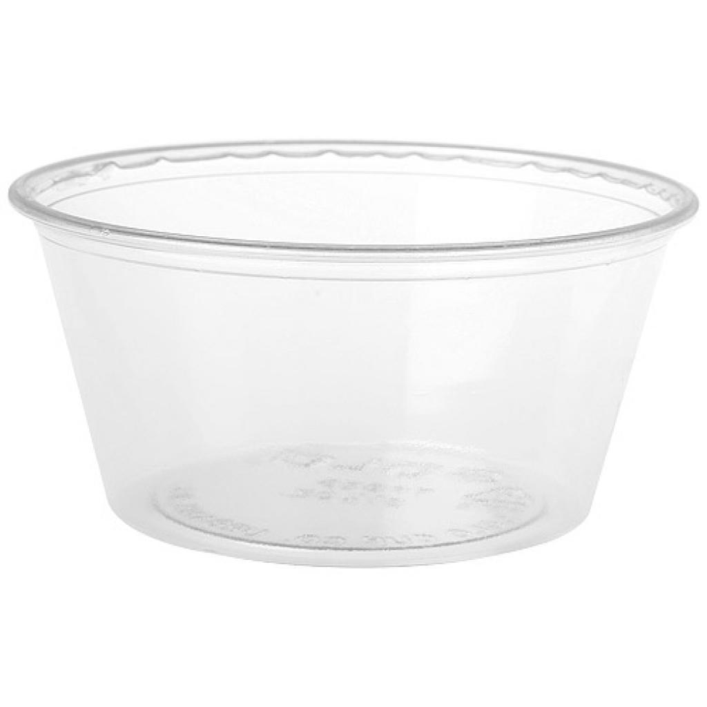 Mini pot PS transparent 9,5 cl (x100)