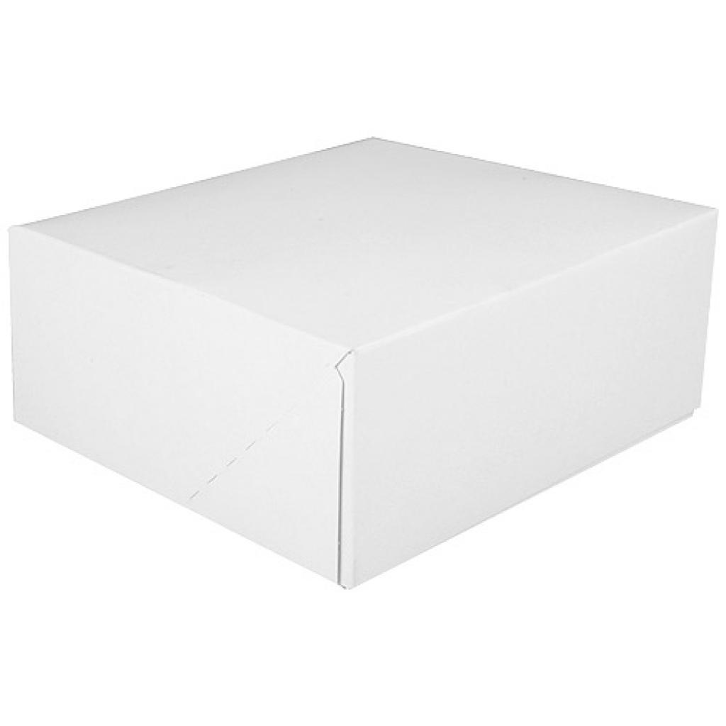 White paperboard pastry box 14x6 cm 2