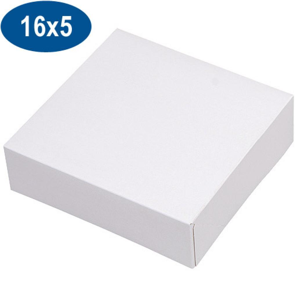 Boite pâtissière en carton blanche 16x5 cm