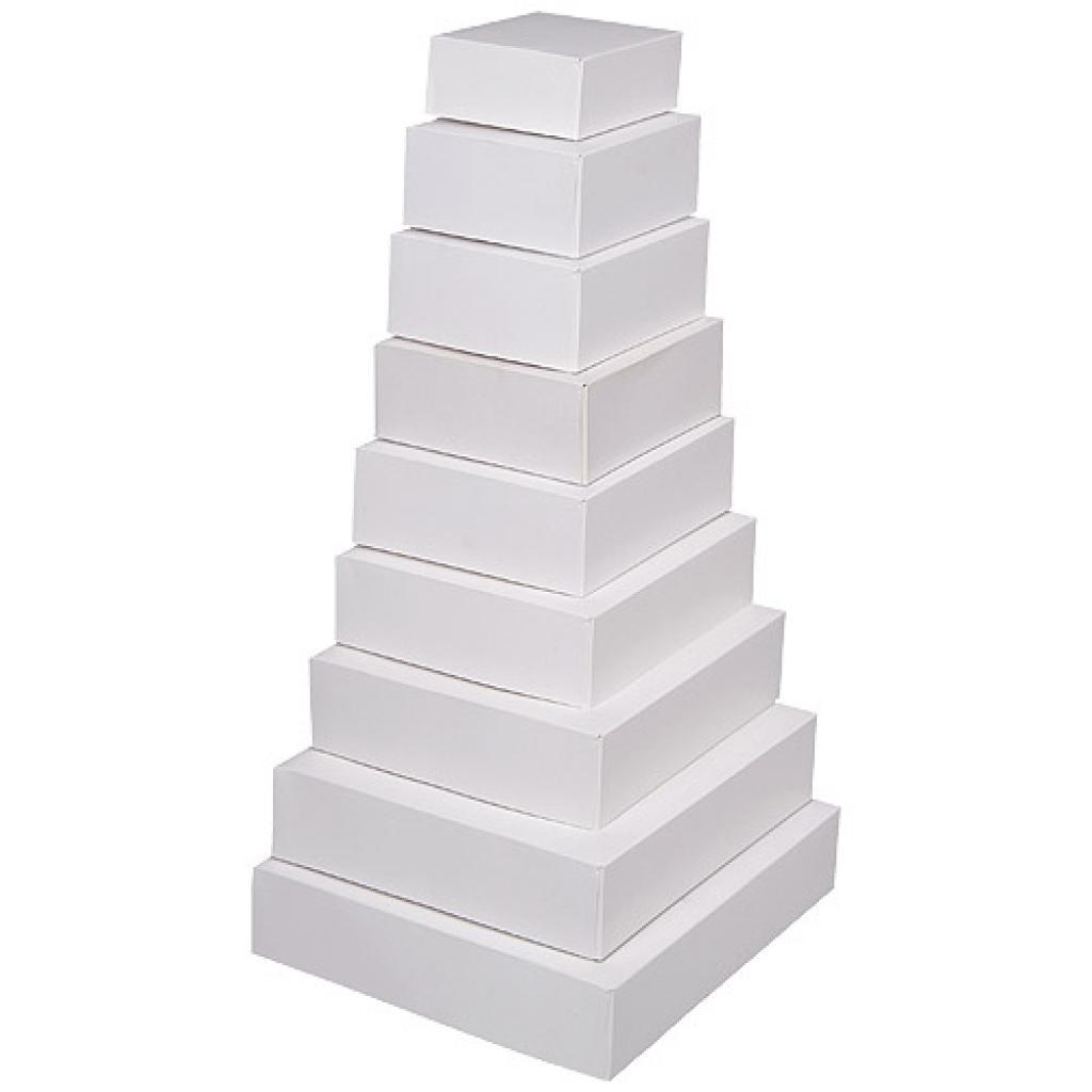 Boite pâtissière en carton blanche 16x5 cm 2
