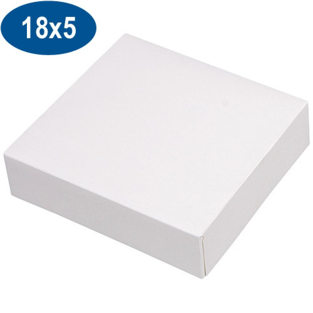 Boite pâtissière en carton blanche 18x5 cm