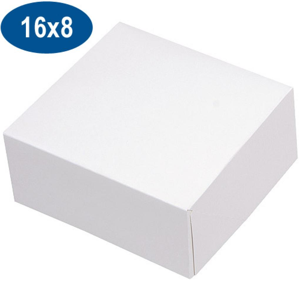Boite pâtissière en carton blanche 16x8 cm