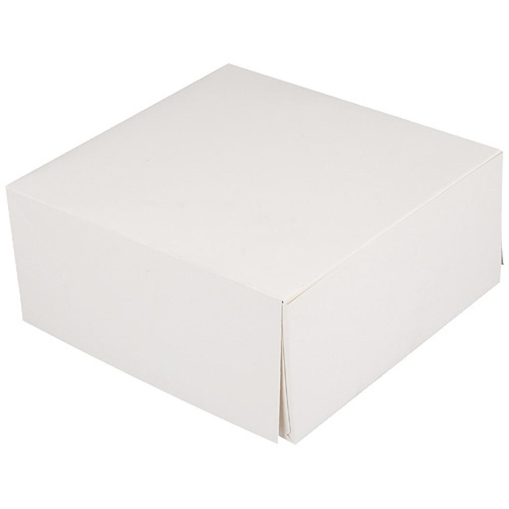 White paperboard pastry box 20x10 cm