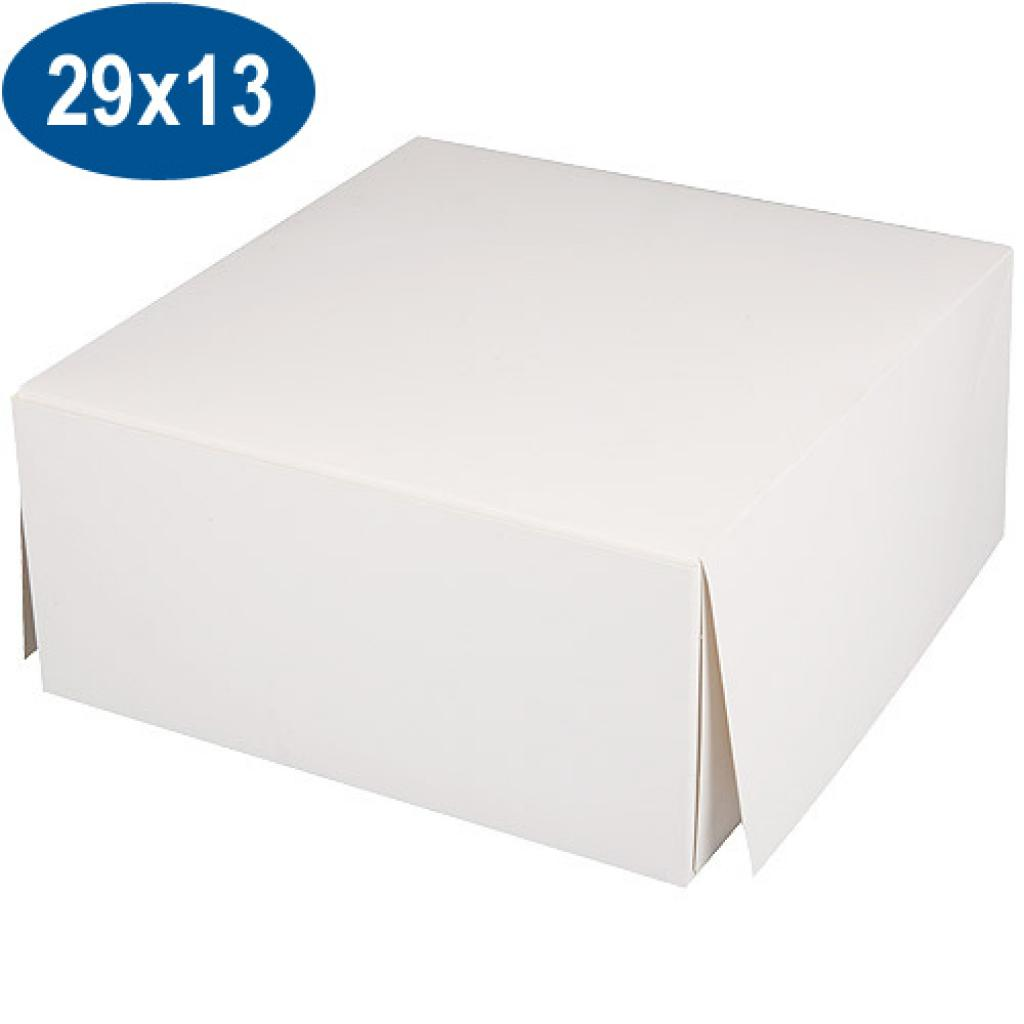 White paperboard pastry box 29x13 cm