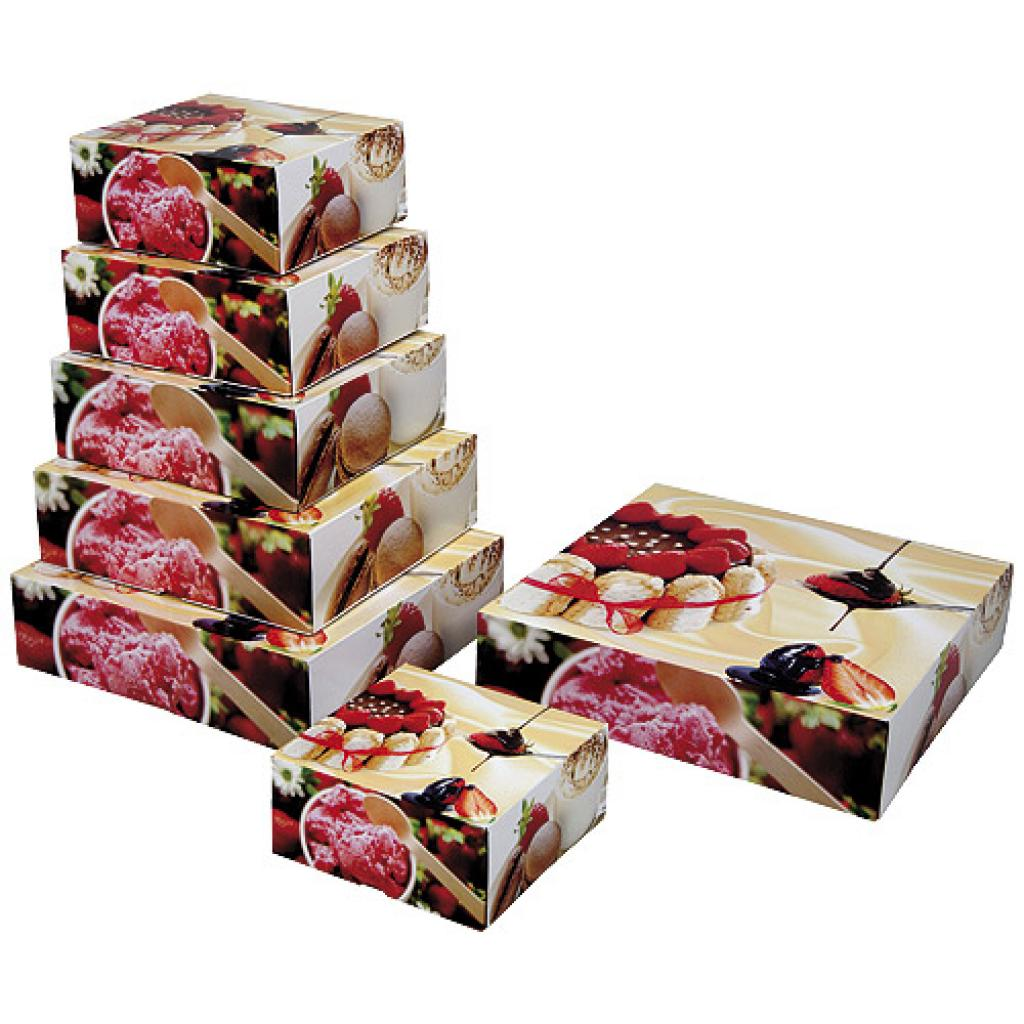 Paperboard charlotte pastry box 16x5 cm 2