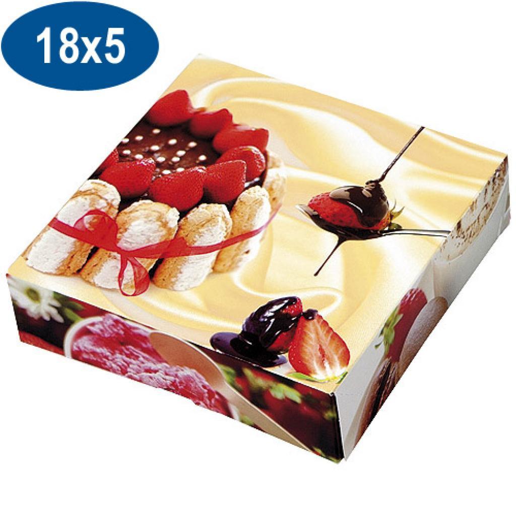 Boite pâtissière charlotte en carton 18x5 cm