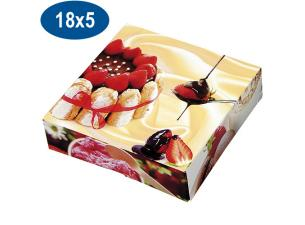 Paperboard charlotte pastry box 18x5 cm