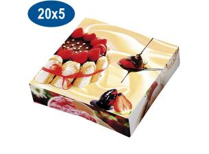 Paperboard charlotte pastry box 20x5 cm