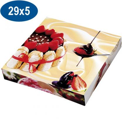 Paperboard charlotte pastry box 29x5 cm
