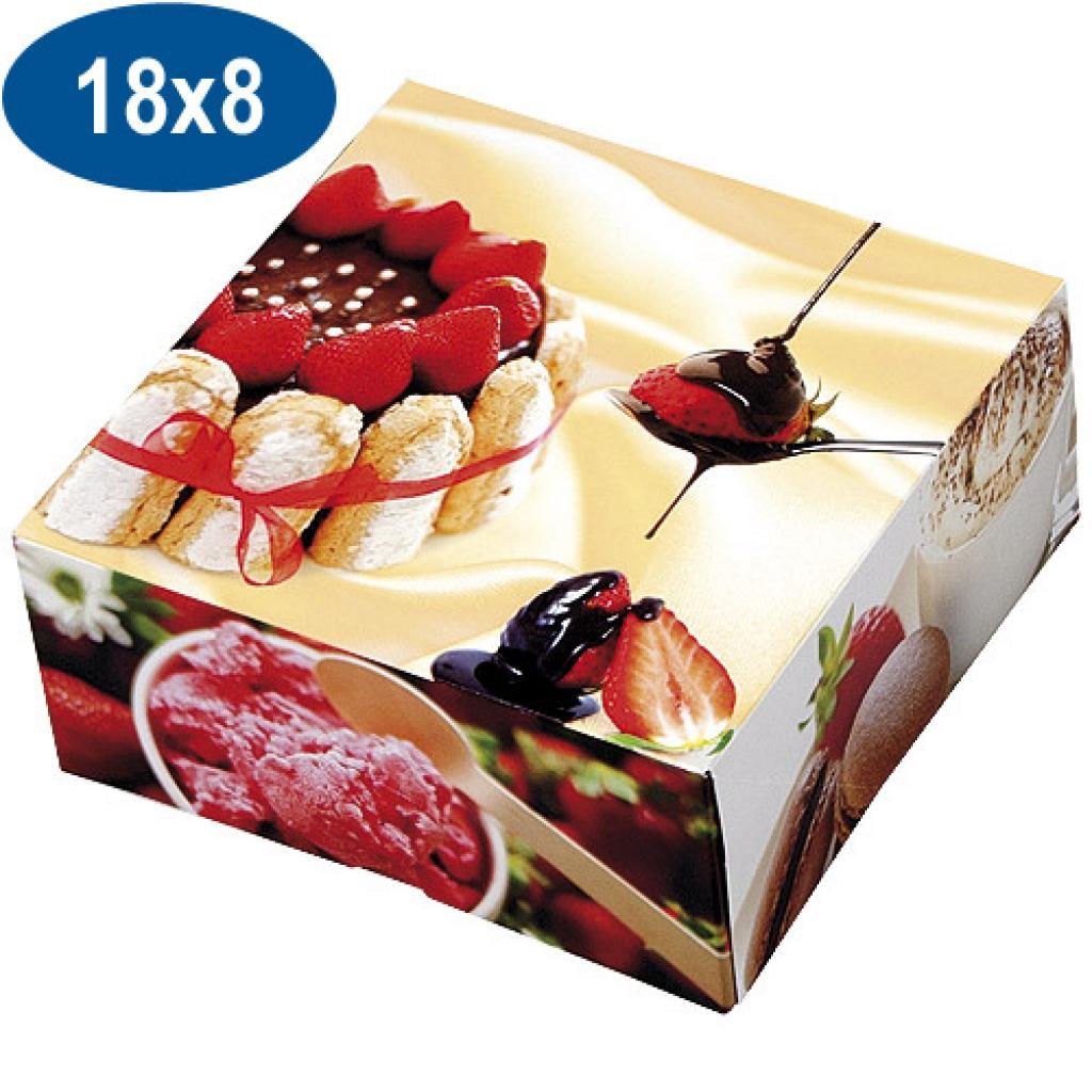 Boite pâtissière charlotte en carton 18x8 cm