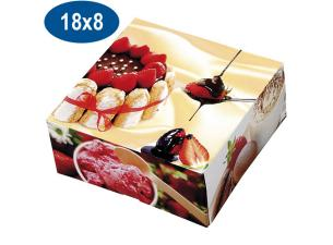 Paperboard charlotte pastry box 18x8 cm