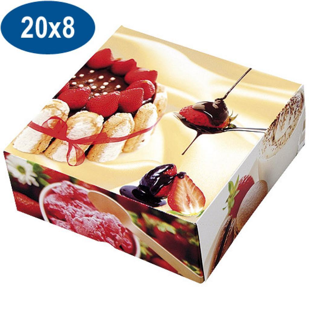 Boite pâtissière charlotte en carton 20x8 cm