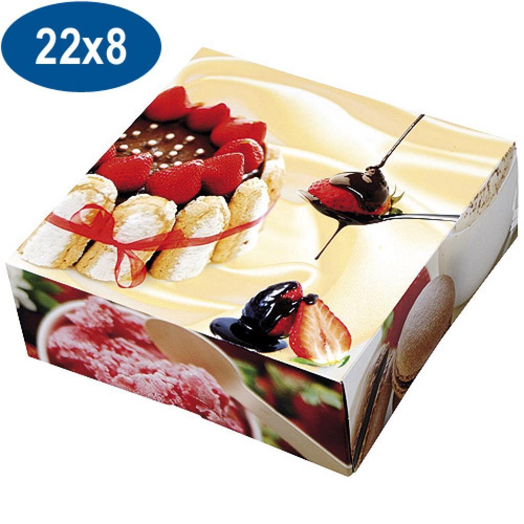 Boite pâtissière charlotte en carton 22x8 cm