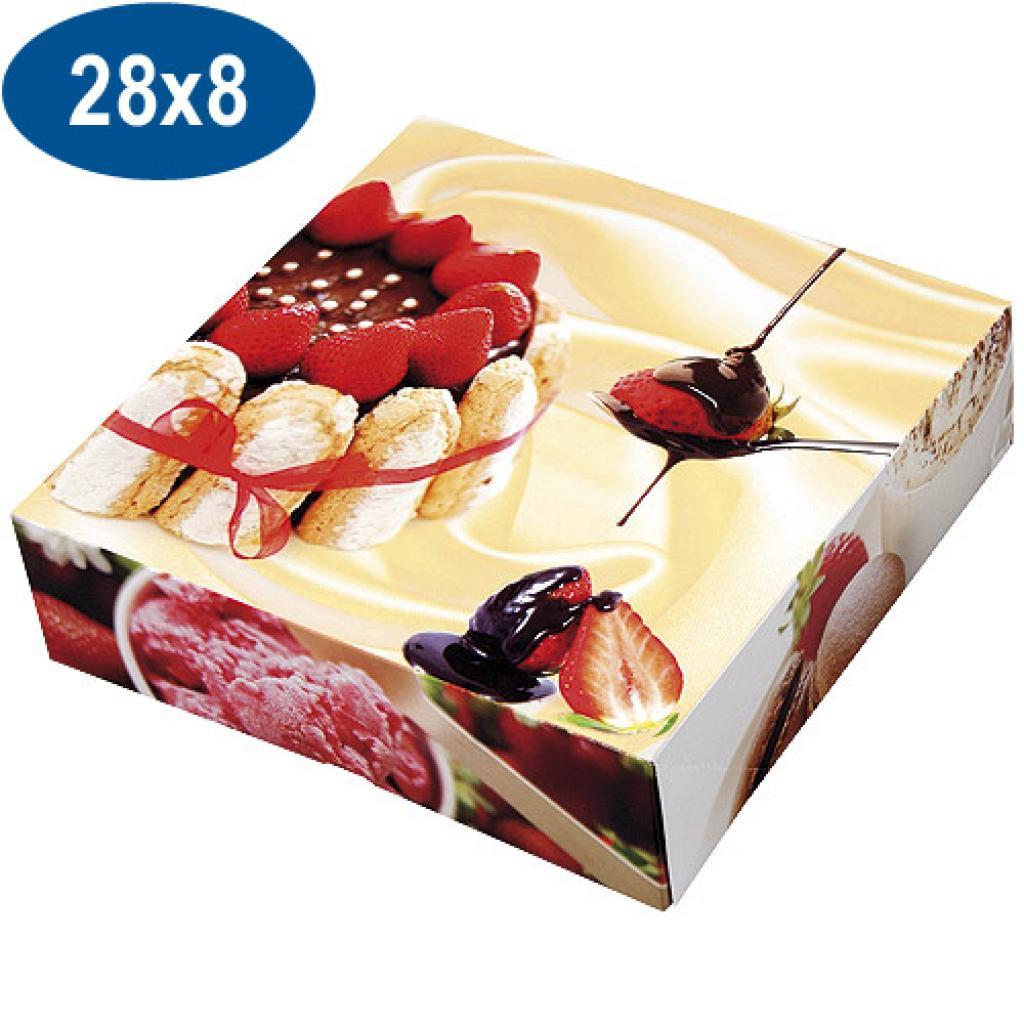 Boite pâtissière charlotte en carton 28x8 cm