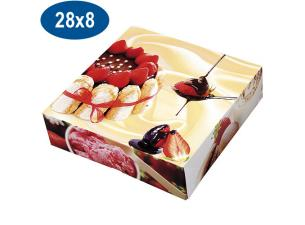 Paperboard charlotte pastry box 28x8 cm