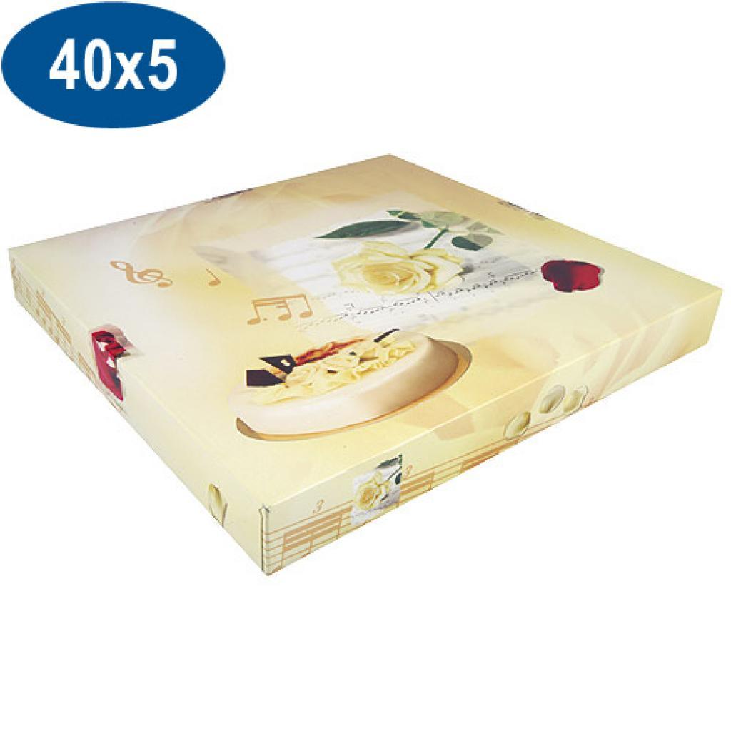 Boite pâtissière opéra en carton 40x5 cm