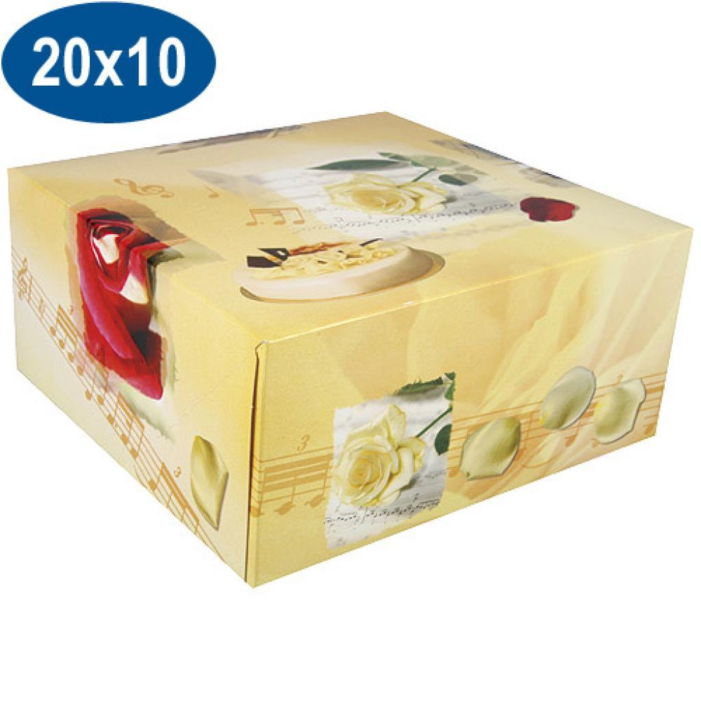 Boite pâtissière opéra en carton 20x10 cm