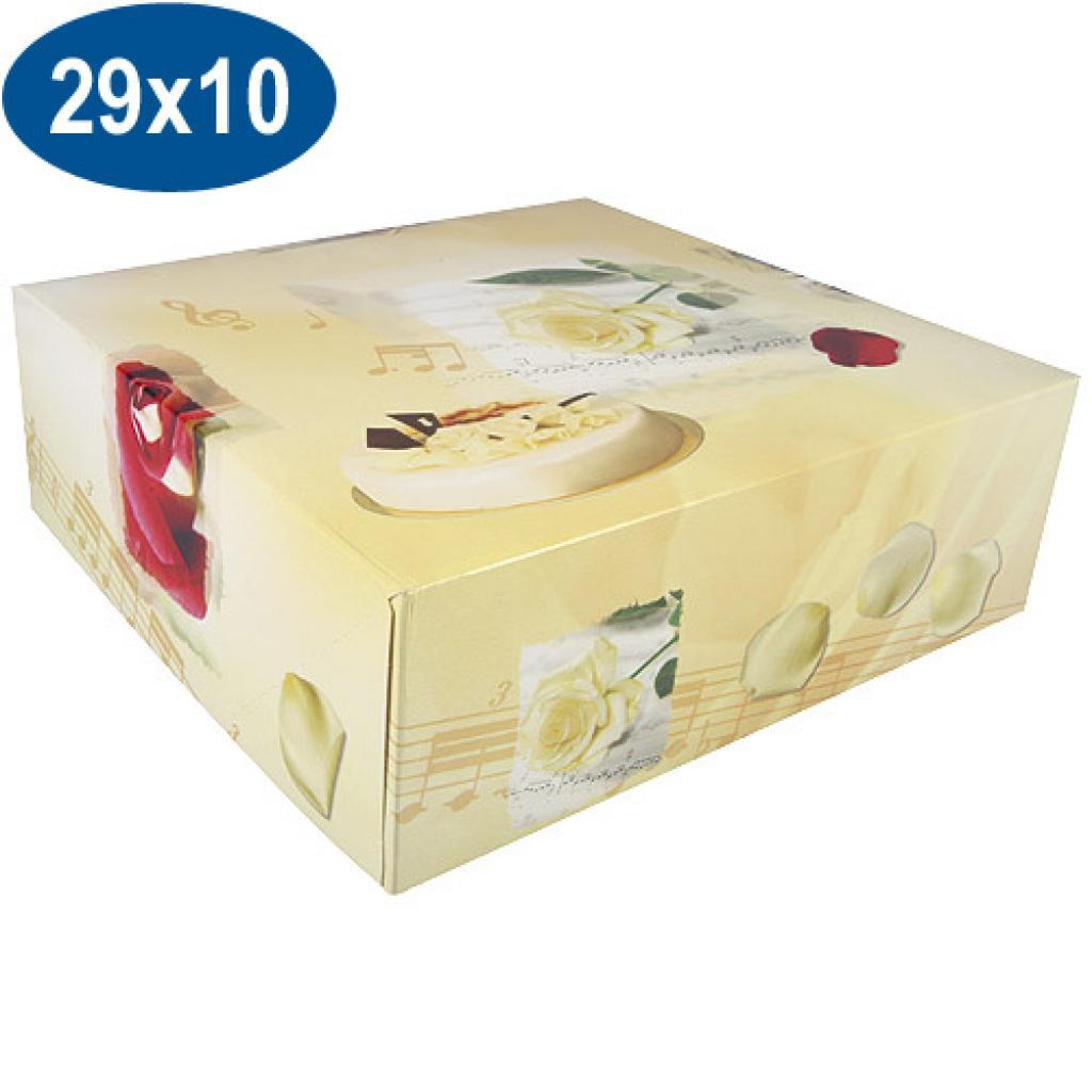 Boîte pâtissière opéra en carton 29x10 cm