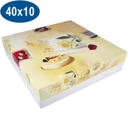 Paperboard opera pastry box 40x10 cm