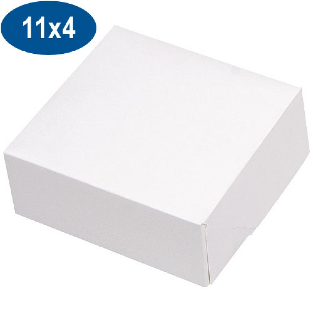 White paperboard pastry box 11x4 cm