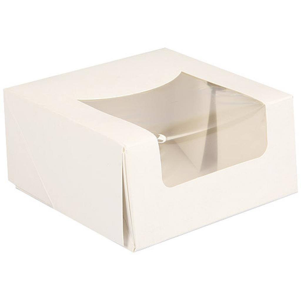 Paperboard pastry box with window 10x5 cm