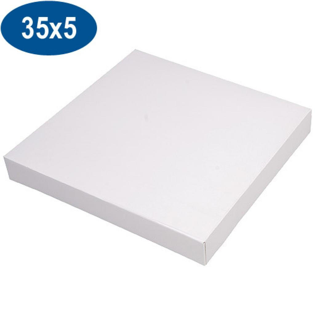 White paperboard pastry box 35x5 cm